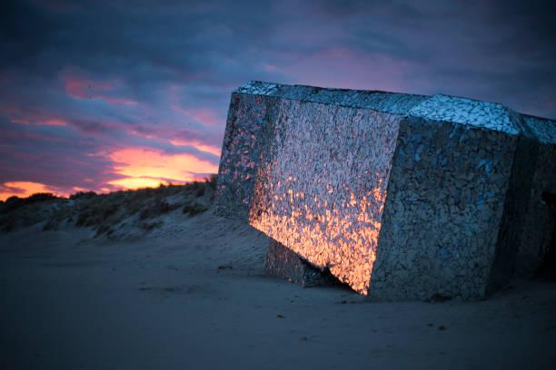 Bunker Blockhaus sur la plage de Leffrinckoucke à Dunkerque de